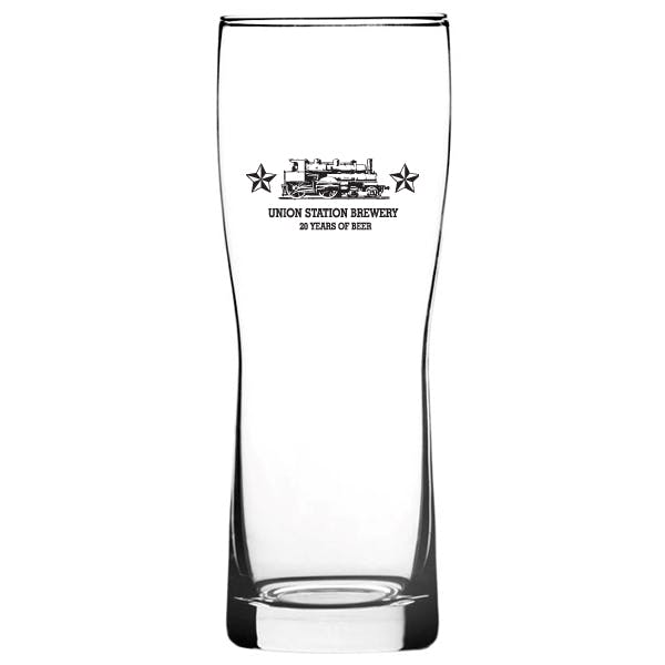 16 oz. New Evolution Pilsner Beer glass sold by MicrobrewMarketing.com