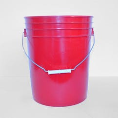 5 gal. Red HDPE Open Head Pail (#120744) Pail sold by Berlin Packaging