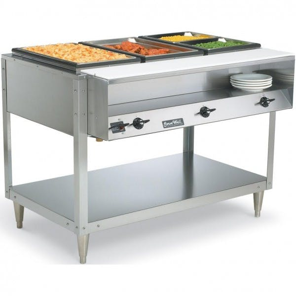 120v Electric 3 Well Steam Table