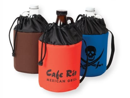 1/2 Gallon Growler Drawstring Cooler (Item # FCIKU-GZXZP) Koozie sold by InkEasy
