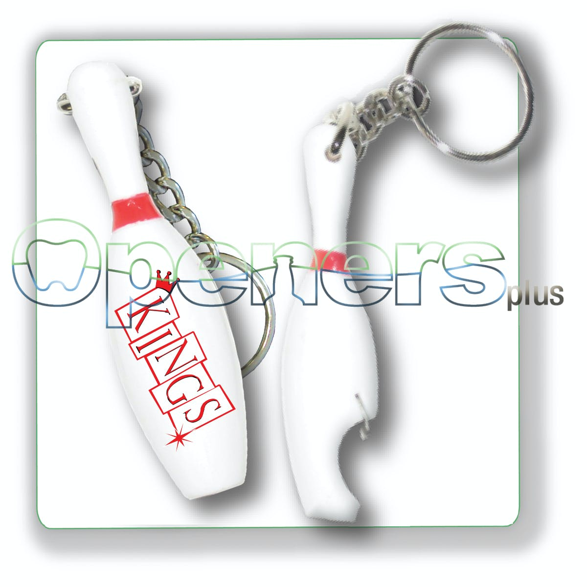 Bowling Pin opener Bottle opener sold by Openers Plus