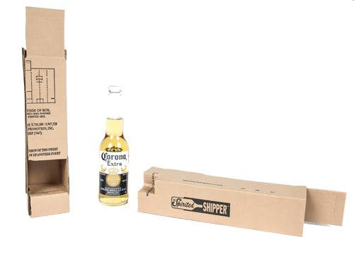 Single Bottle Beer Shipper Insert Wine shipper sold by SpiritedShipper