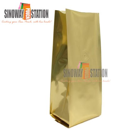Foil Quad Seal Side Gusseted Pouch Gusseted pouch sold by sinowaypouchstation.com,LLC