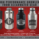 Stainless Steel Growlers - Growler sold by Clearwater Gear