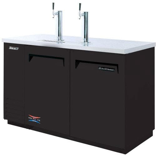 "Turbo Air TBD-2SB - Direct Draw Draft Beer Dispenser - 2 Keg Capacity, 58"" Kegerator sold by Elite Restaurant Equipment"