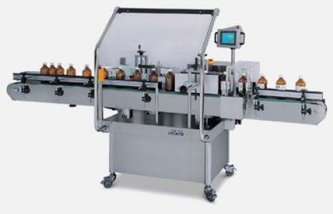 Wrap Around Labeler, Model 302 Bottle labeler sold by ACASI Machinery