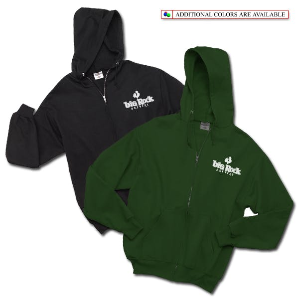 Jerzees Full-Zip Hooded Sweatshirt Promotional apparel sold by MicrobrewMarketing.com