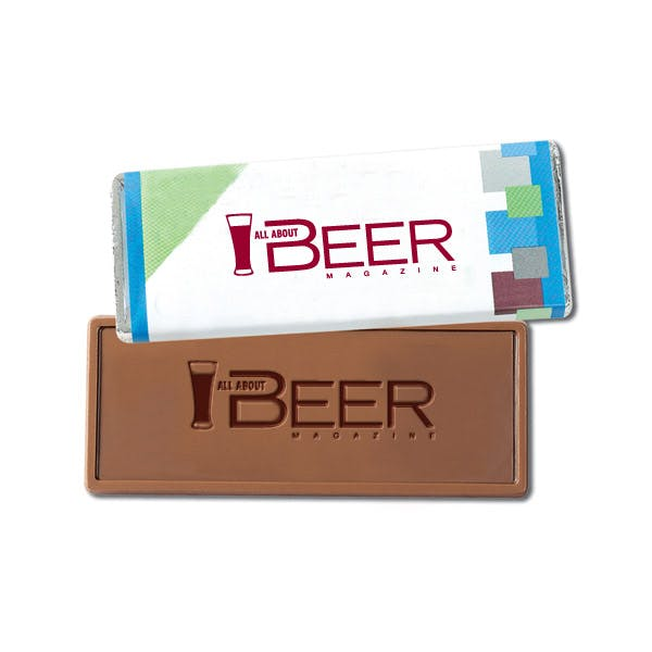 1.75 oz. Custom Wrapper Bars With Custom Chocolate Promotional product sold by MicrobrewMarketing.com