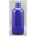 8 oz Glass Boston Round, Round , Cobalt Blue, 28-400 - Glass bottle sold by TricorBraun WinePak