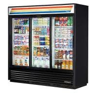 True GDM-69-LD 69 Cu. Ft. Sliding Glass Door Merchandising Cooler - LED Merchandiser sold by Prima Supply