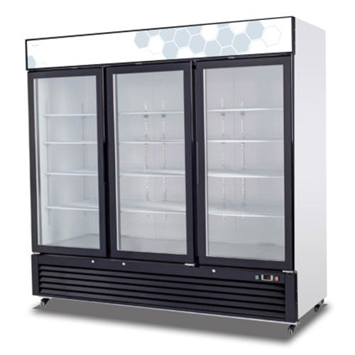 C-72FM Triple Glass Door Migali Freezer Commercial freezer sold by Pizza Solutions