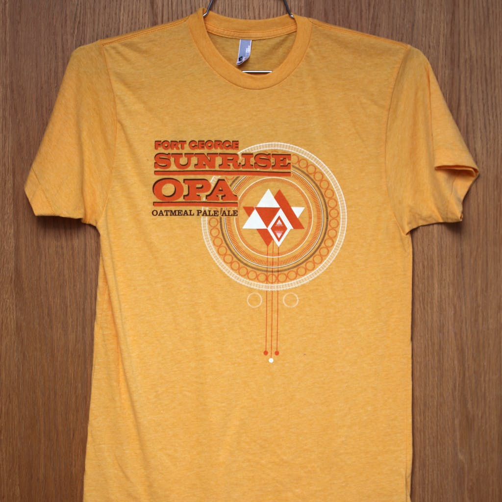 50/50 Tee - Fort George - Sunrise OPA Promotional shirt sold by Brewery Outfitters