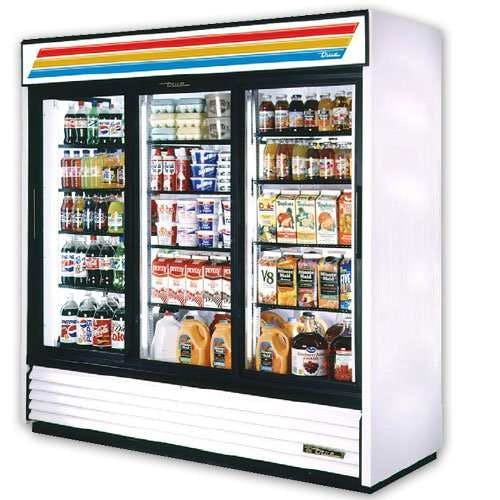 "True GDM-72F - 78"" Glass Door Reach In Freezer Commercial freezer sold by Elite Restaurant Equipment"