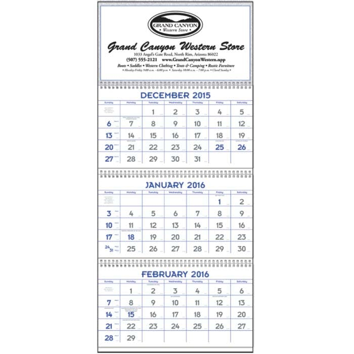 Norwood Promotional Products :: Product :: Blue & Grey Commercial Planner Custom calendar sold by Distrimatics, USA