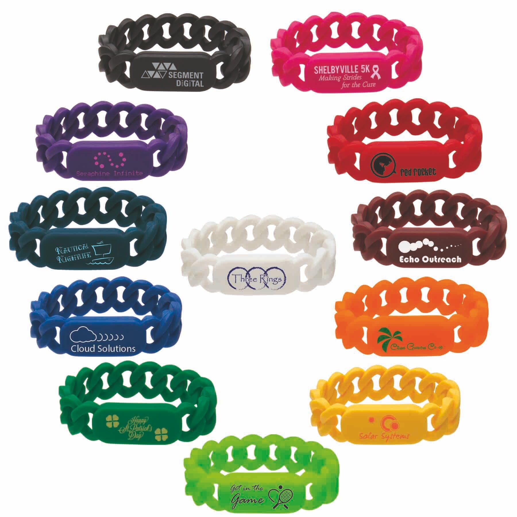 Link Wristband (Item # UFHNS-JKXJL) Promotional wristband sold by InkEasy