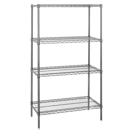 Wire Shelving Starter Units Storage shelf sold by Ameripak, Inc.