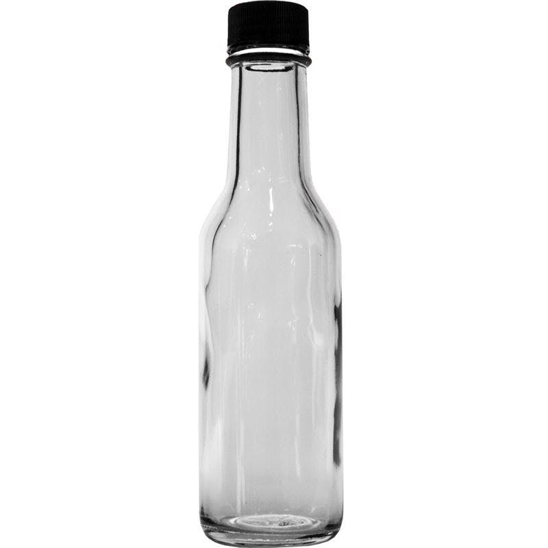 5 oz Woozy bottle with reducer and cap Glass Jar sold by Glass Bottle Outlet