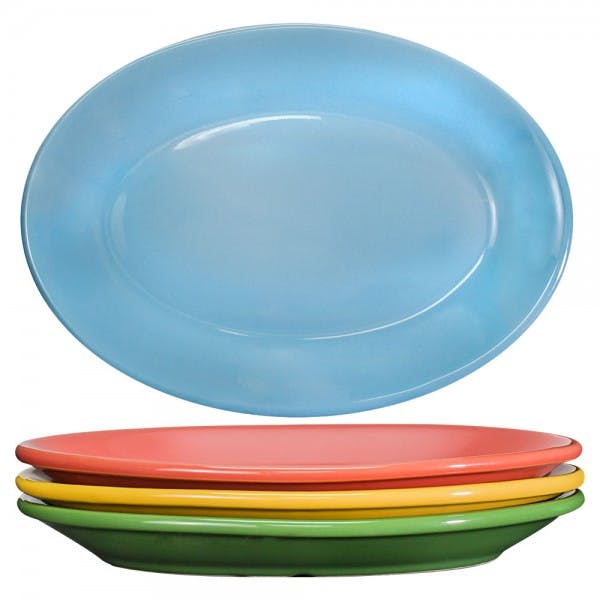 "Festivale 9"" Assorted Colors Serving Platter"