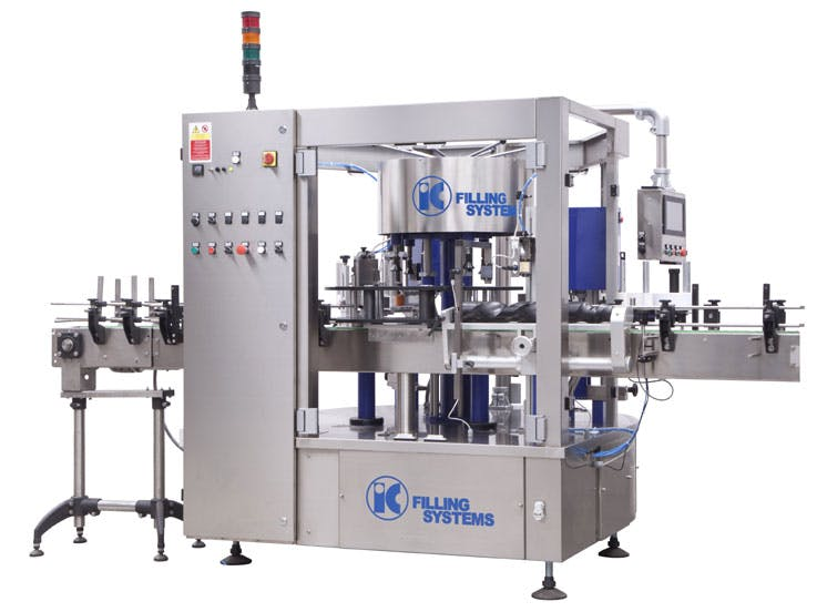 Automatic inline labellers Bottle labeler sold by IC Filling Systems