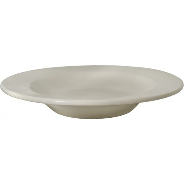 22 oz. White China Wide Rim Pasta Bowl