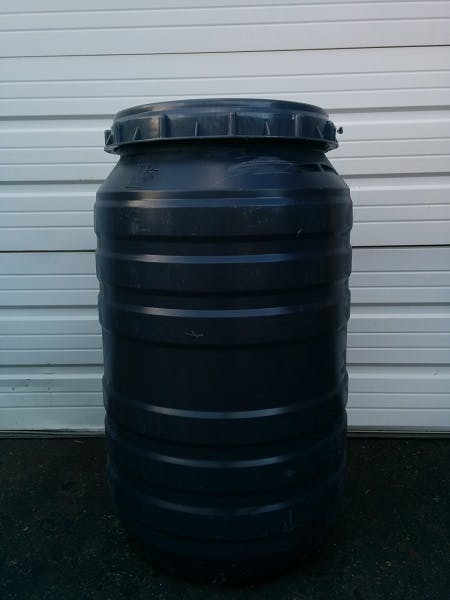 55 gallon screw top poly barrel, food grade, rinsed Whiskey barrel sold by Container Reclaimer