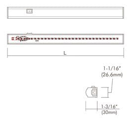 "18"" Portable Install Sleek LED Cove Light Bar 6.8W - sold by RelightDepot.com"