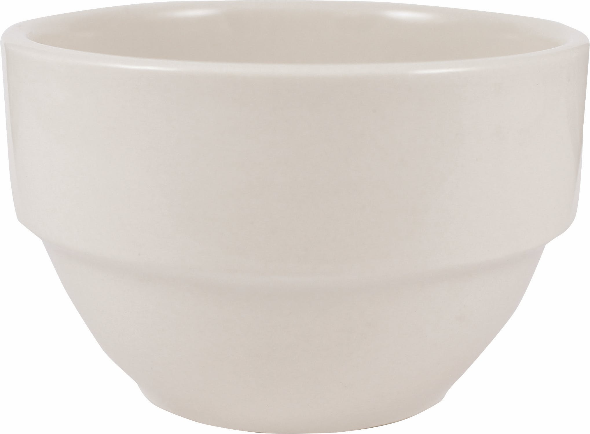 8.5 oz. American White Roma Stacking Bowl  Plate sold by Prestige Glassware