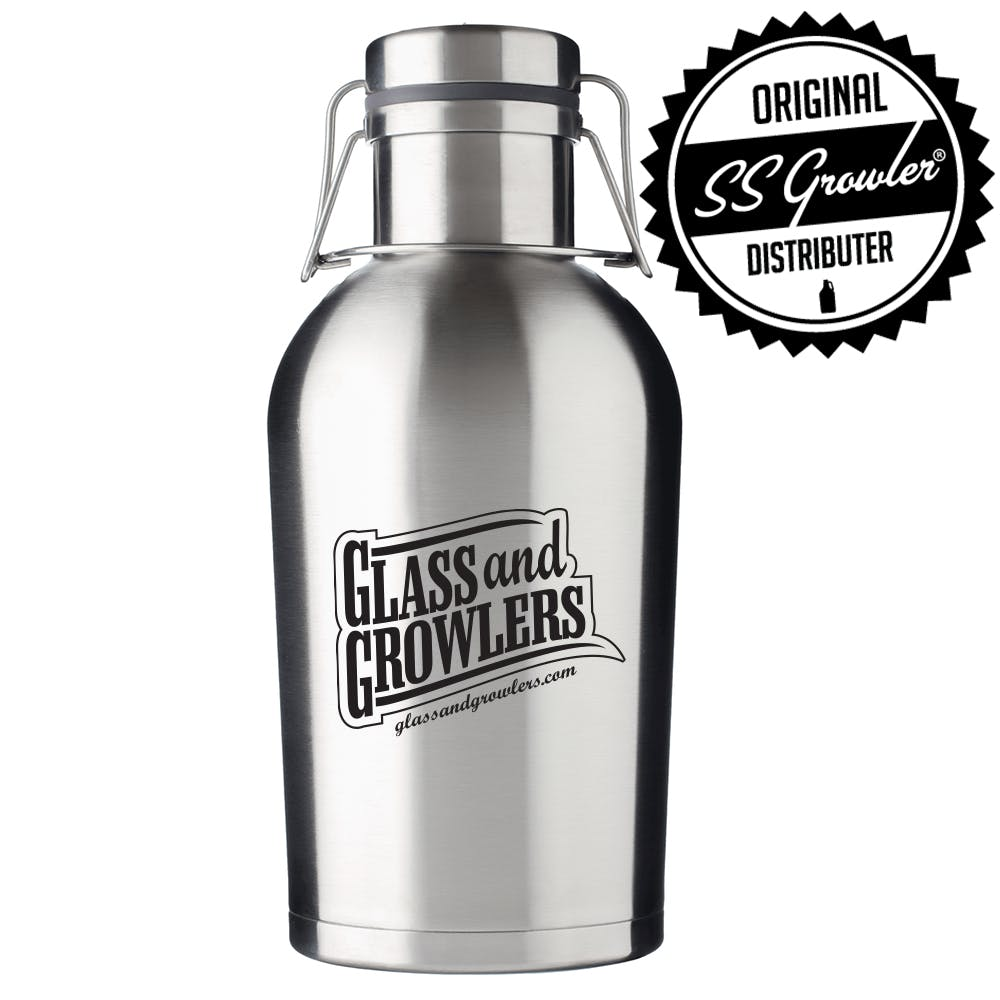 64oz Double Wall SS Growler Growler sold by Glass and Growlers