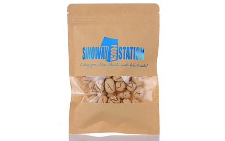 Kraft Window Flat Pouch - sold by sinowaypouchstation.com,LLC