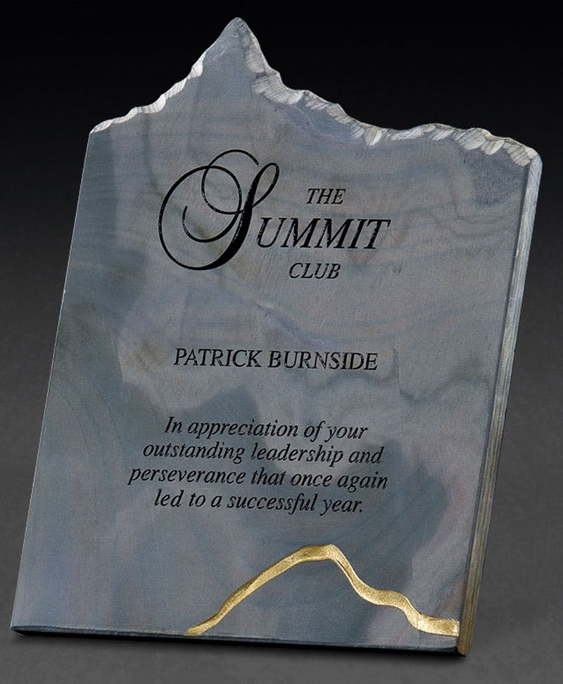 Multi colored Slate peak award Award sold by Distrimatics, USA