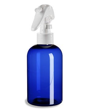4 oz Blue Plastic PET Boston Round Bottle w/ Mini Trigger Spray Plastic bottle sold by PremiumVials