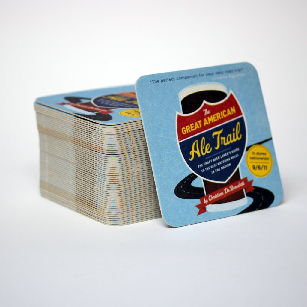 Medium weight full-color coasters - 2500 pcs MOQ Drink coaster sold by Brewery Outfitters