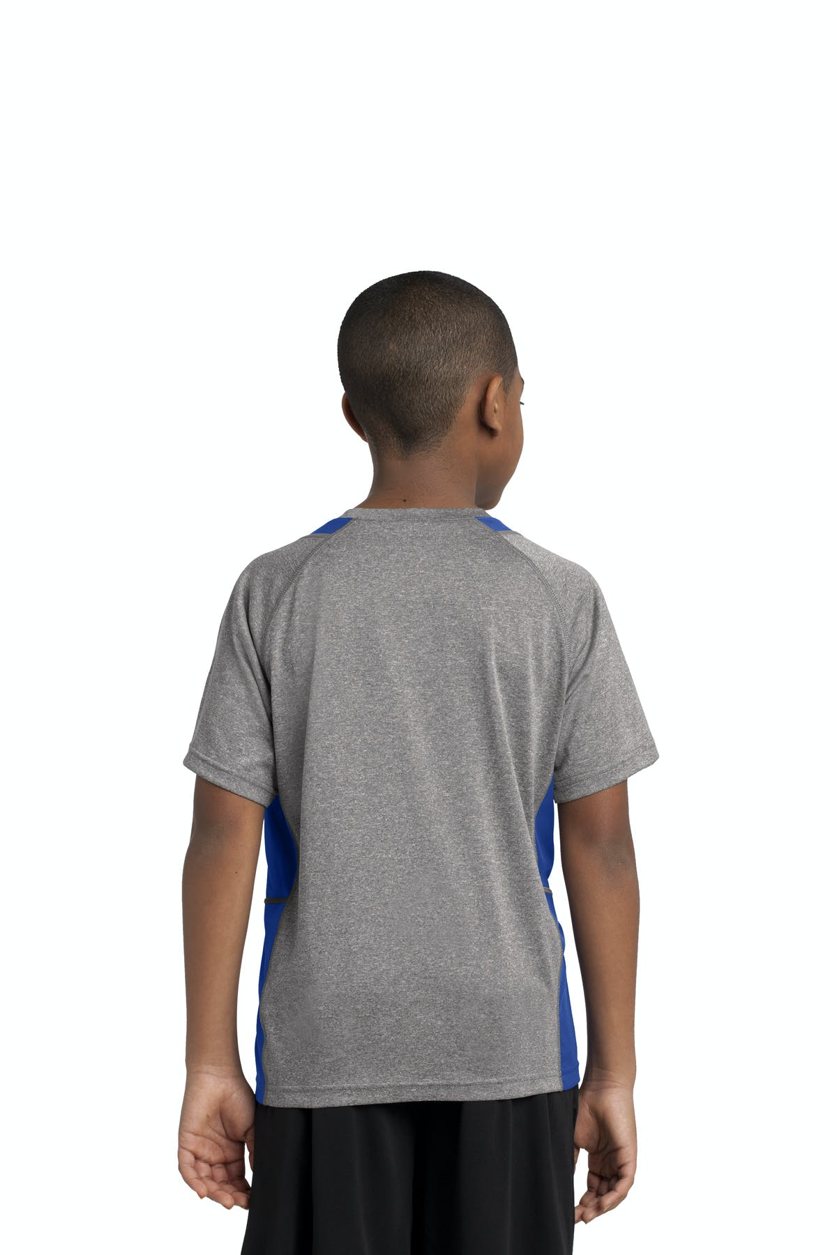 Sport-Tek® Youth Heather Colorblock Contender™ Tee - sold by PRINT CITY GRAPHICS, INC