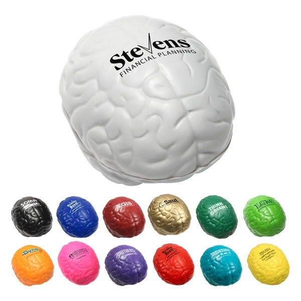 Brain Shaped Stress Reliever (Item # YCEOS-FOXUP) Stress reliever sold by InkEasy