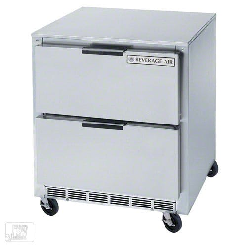 "Beverage Air - UCRD27A-2 27"" Undercounter Refrigerator w/ Drawers Commercial refrigerator sold by Food Service Warehouse"