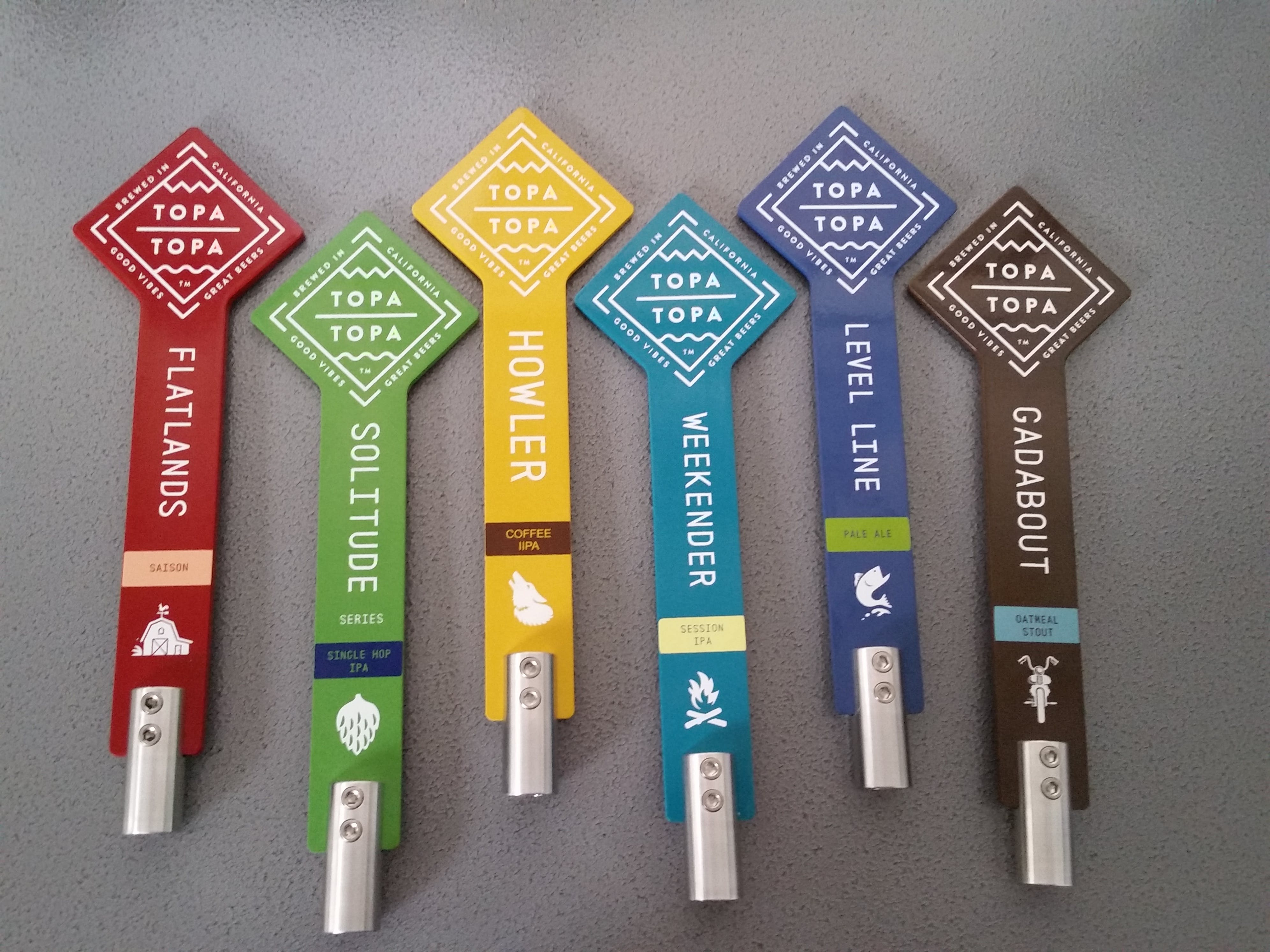 Tap Handles for Topa Topa Brewing Co. Ventura, Ca. - Aluminum Tap Handles - sold by Brewlicious Beer