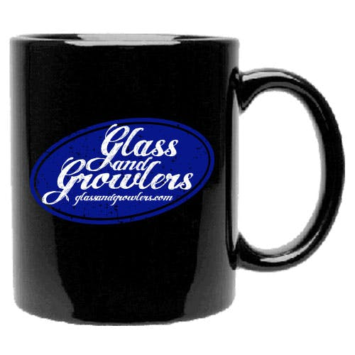 Black C-Handle Mug 11 oz Ceramic mug sold by Glass and Growlers