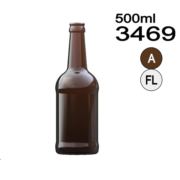 #3469 Longneck Beer Bottle Beer bottle sold by Wholesale Bottles USA