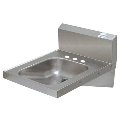 Advance Tabco 7-PS-75 Physically Challenged Hand Sink, Wall Model, 14 x 16 x 6-1/4 Deep Bowl, No Faucet (3 Hole Punched) Sink sold by Mission Restaurant Supply