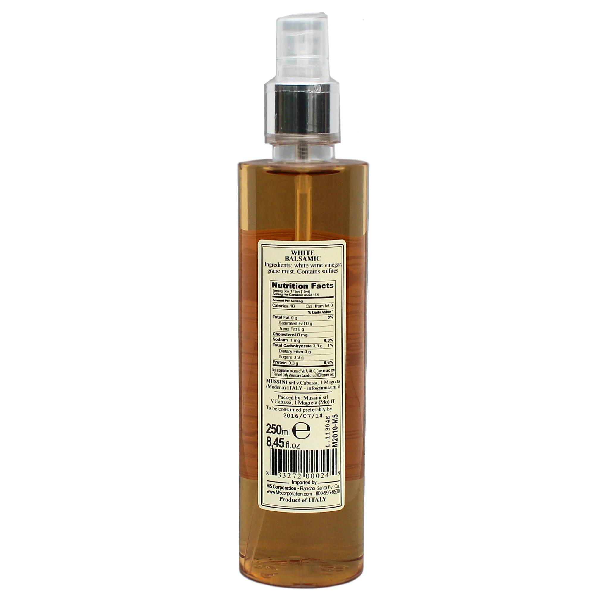 4 Year White Bittersweet Balsamic Vinegar Spray - sold by M5 Corporation