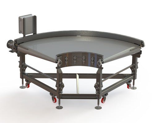 Zero Tangent Radius Conveyor with  Caster Footpad System - Zero Tangent Radius Conveyor - sold by Fusion Tech Integrated Inc.