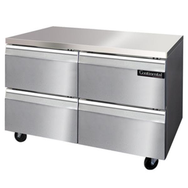 "Continental Undercounter Freezer, 48"" Commercial freezer sold by pizzaovens.com"