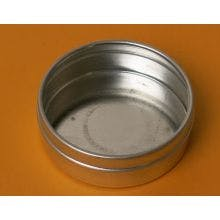 1 Ounce Flat Round Bottom - Seamless Tin Can Metal tins sold by BASCO