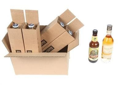 Four Bottle Beer Shipper - Four Bottle - 375 ml Wine, Spirits, Beer & Small Bottle Shipper - sold by SpiritedShipper