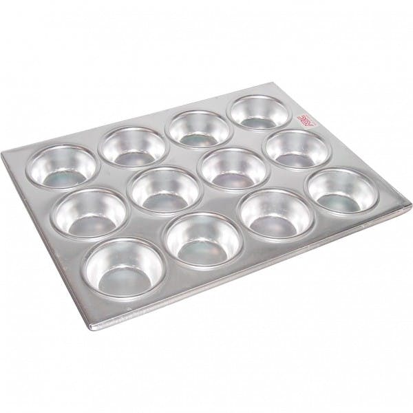 12 Compartment Aluminum Muffin Pan - AAAMCP12