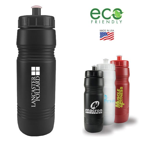 26 Oz Recycled Bike Bottle With Push/Pull Lid Promotional product sold by MicrobrewMarketing.com