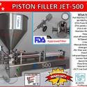 Jet-500 Single Head Air & Electric Piston Filler Fills Paste, Liquids, Salsa,Peanut Butter - Bottle filler sold by Pro Fill Equipment