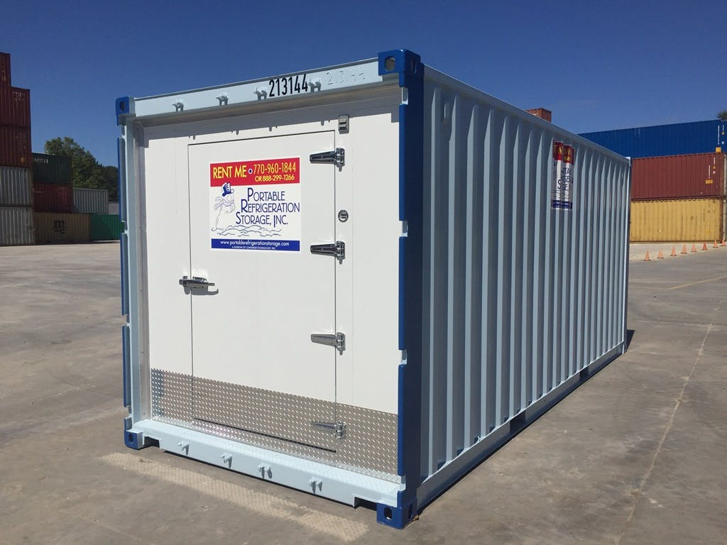 20x8 Ground Level Walk-In Freezer Walk in freezer sold by Portable Refrigeration Storage, Inc.