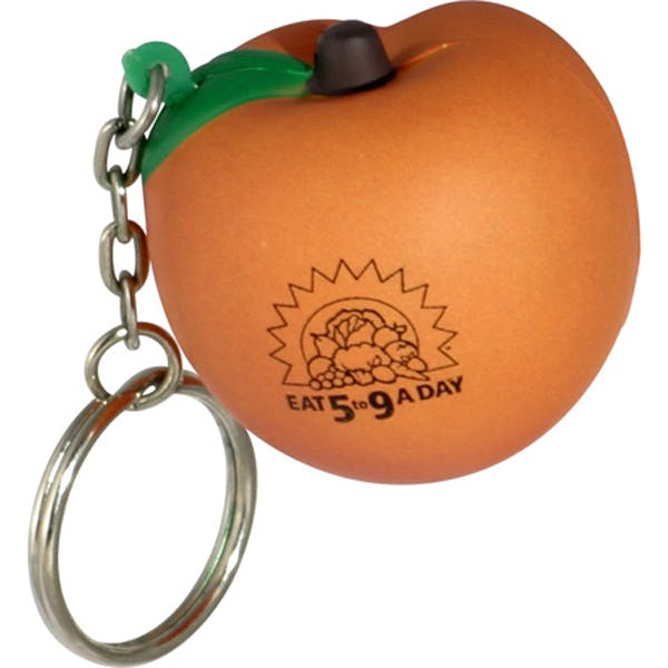 Ariel :: Peach Key Chain - LKC-PC19 Stress reliever sold by Distrimatics, USA