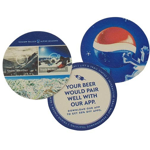 "Digital Printing, CoastersD-AS40-RD, 40 pt., 3.5"" Round, Digital Coasters Drink coaster sold by Distrimatics, USA"